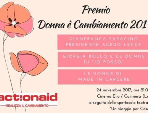 """Premio """"Donna è cambiamento"""" a Giorgia Rollo e alle donne di IO POSSO"""